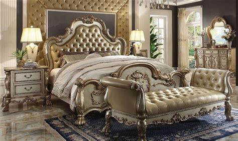formal luxury antique est king  pc traditional dresden gold bedroom set  ebay