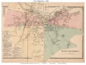maps of jefferson county new york towns 1864