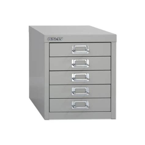 Multi Drawer Filing Cabinet Bisley Soho H325mm Multi Drawer 5 Steel Filing Cabinet Silve