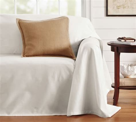 loose fit slipcover dropcloth loose fit slipcover twill pottery barn