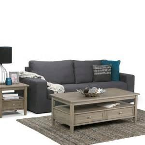 Dvd Storage Coffee Table Simpli Home Distressed Grey Built In Media Storage Coffee