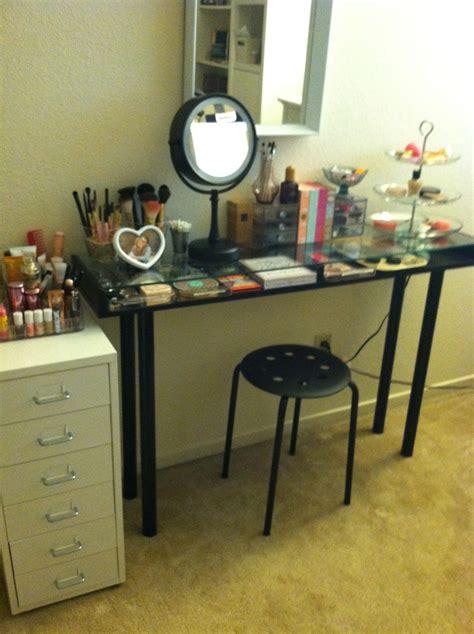 Large Vanity Table Makeup Storage Ikea Diy Vanity Boxy Foxy Beauty