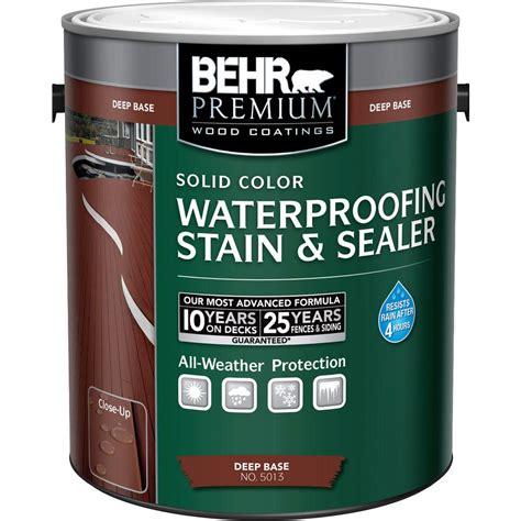 behr solid color waterproofing wood stain behr premium 1 gal base solid color waterproofing