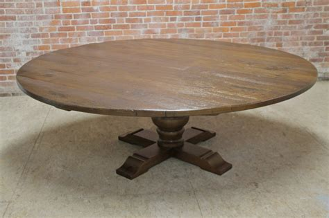 Large Circular Dining Table 84 Quot Large Dining Table Farmhouse Dining Tables Boston By Lakeandmountainhome