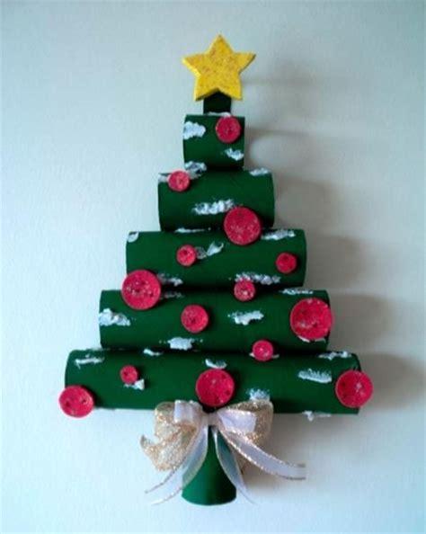 diy como hacer servilleteros para navidad con tubos de carton c 243 mo hacer 225 rbol de navidad de pared con tubos de cart 243 n