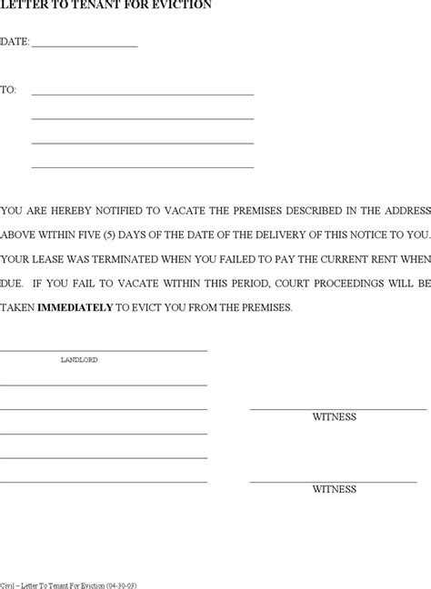 eviction notice template download free premium