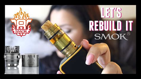 rba vape tutorial smok tfv8 rba tutorial how to build and wick it