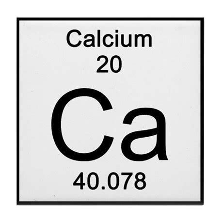 Calcium On Periodic Table by Periodic Table Calcium Tile Coaster By Science Lady