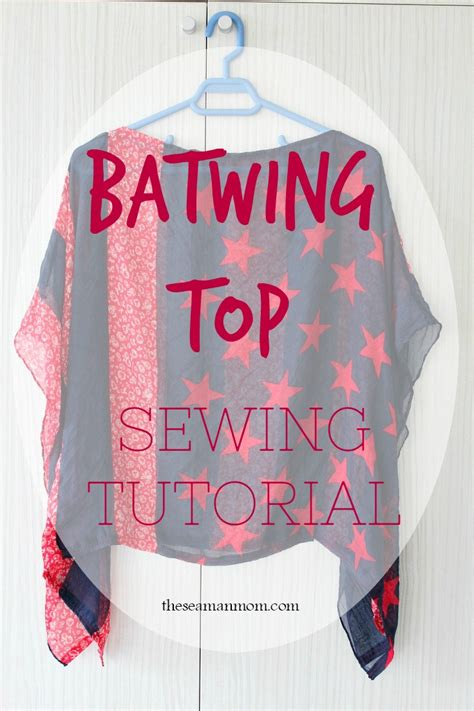 Top Batwing batwing top sewing tutorial from a scarf
