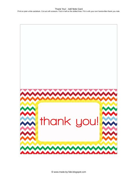 free thank you card template printable thank you card new calendar template site