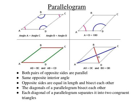Interior Angles Of A Parallelogram by Maths Quadrilateral
