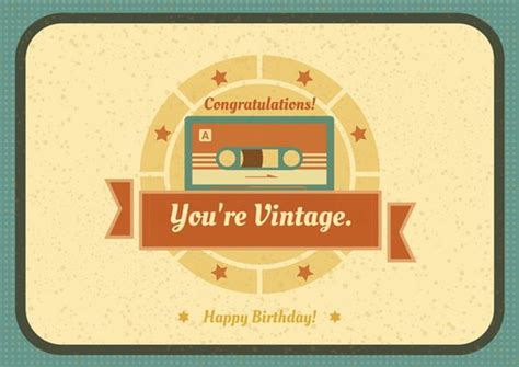 Birthday Card Vintage Template by Vintage Birthday Card Templates By Canva