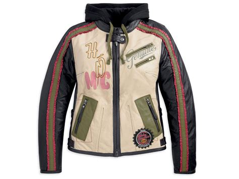 Jacket Hoodie 1 harley davidson womens white leather pacer 3 in 1