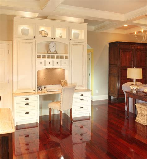 Houzz Kitchen Desk Ideas Kitchen Desk Built In Traditional Family Room