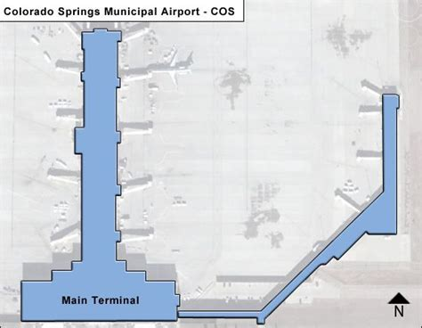cos colorado springs municipal airport terminal maps