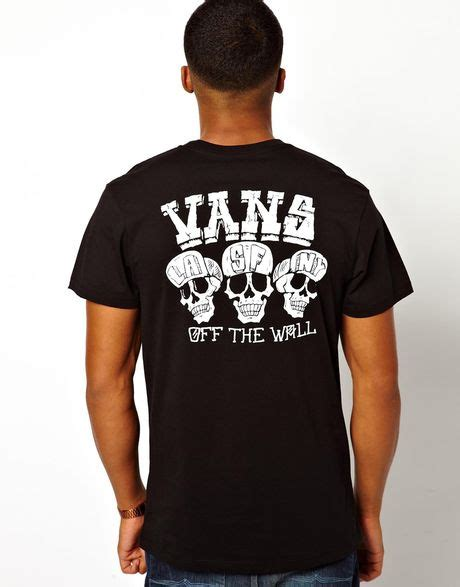 Kaos Tshirt Vans Skull vans thirteen tshirt with skull back print in black for lyst