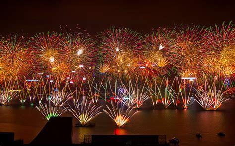 hong kong  year countdown  fireworks