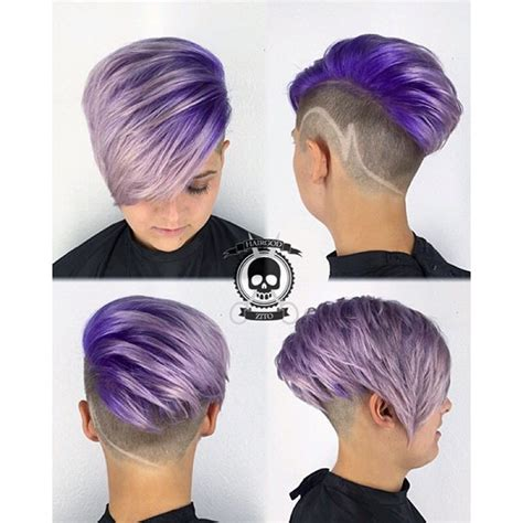 purple color melt and goreous clipper cut by master barber
