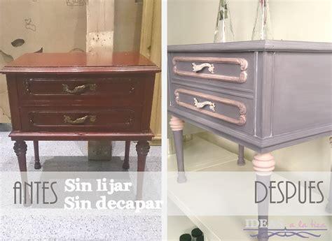 chalk paint para muebles de melamina ideas a la tiza antes y despues de una mesita con chalk paint