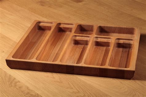 kitchen cabinet knife drawer solid beech cutlery tray insert solid beech cutlery
