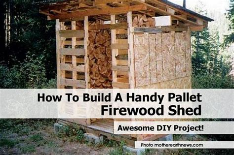 how to build a canstruction project how to build a handy pallet firewood shed