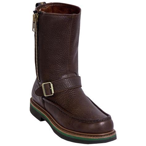 mens zipped wellington boots s deere 174 11 quot side zip safety toe wellington