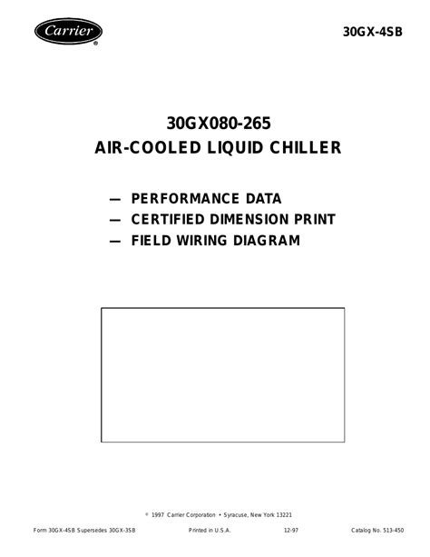 Carrier 30gx080 265 User Manual 12 Pages