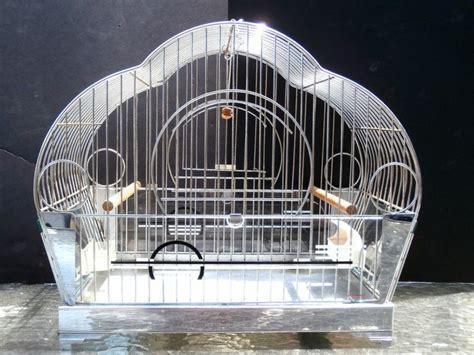 bird cage swing vintageoriginal hendryx bird cage chrome art deco glass