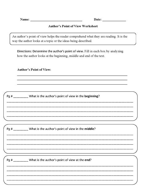 Point Of View Worksheet by Englishlinx Point Of View Worksheets