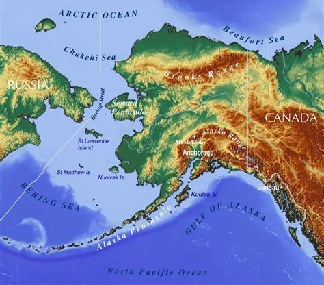 alaska state map maps of alaska state usa nations project