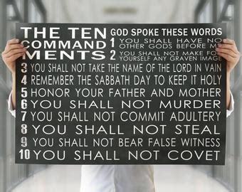 Ten Commandments Of Character ten commandments canvas wall