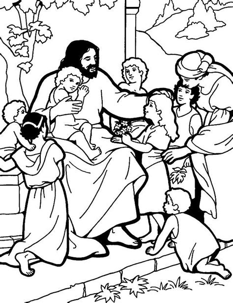 coloring pages  jesus teaches   pray