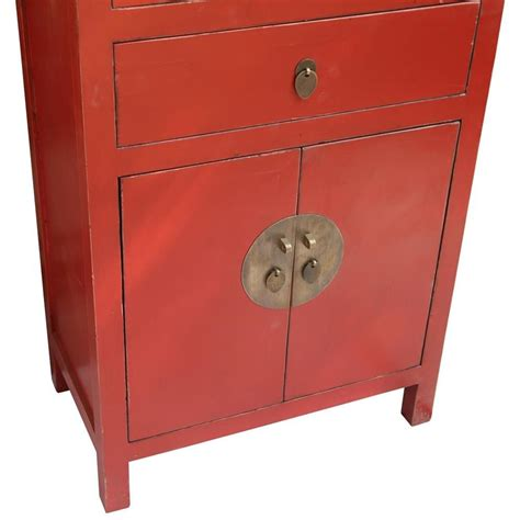 red lacquer cabinet cabinet chinese red lacquer 70x110x45 etnicart