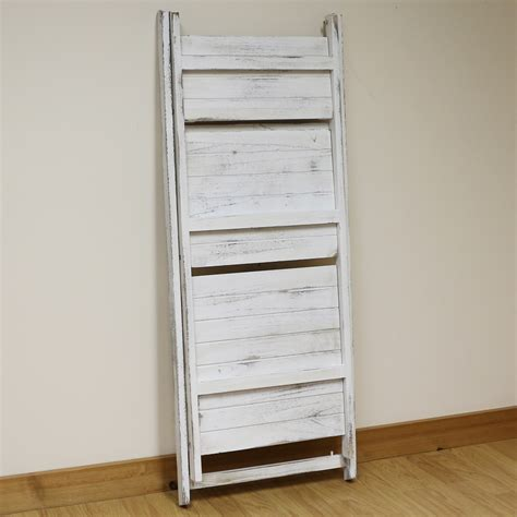 3 tier white wash ladder shelf display unit free standing