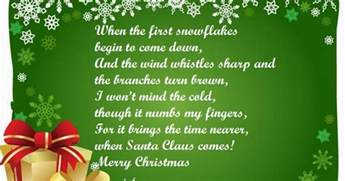 merry christmas 2015 poems for kids children to recite at