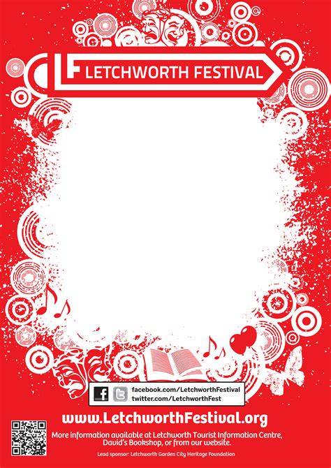festival poster template free letchworth festival