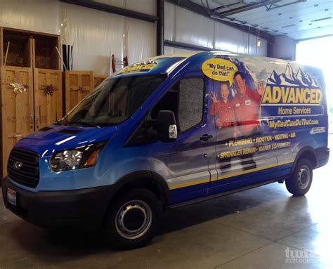 Advanced Plumbing Idaho Falls by Advanced Home Services Transit Wrap Turner Sign Co