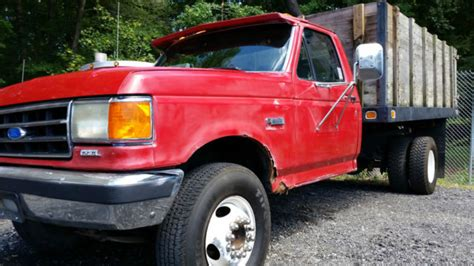ford fsd dump truck 1991 red for sale 2fdlf47g0mca11208 1991 ford super duty dump truck 129 000 1991 ford f450 dump truck only 92 000 miles 7 3l diesel for sale in abingdon maryland united