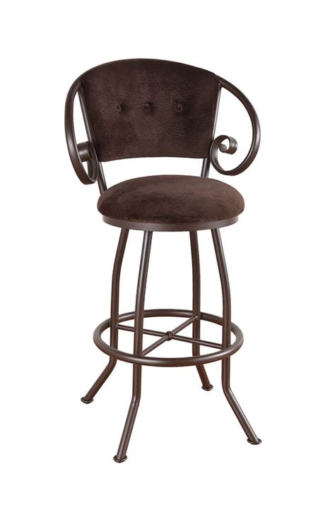 Padded Bar Stools With Backs And Arms by Callee Walton Swivel Stool W Padded Back And Arms Free