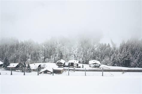 snow village winter  photo  pixabay