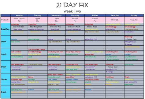 21 Day Fix Spreadsheet by 21 Day Fix Tracking Spreadsheet Papillon Northwan