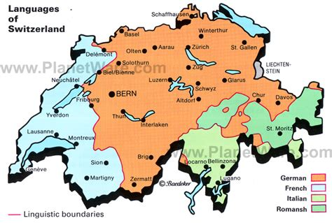 switzerland map languages switzerland map by language