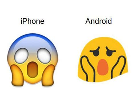iphone emojis for android 8 emojis and what they look like in android vs iphone community