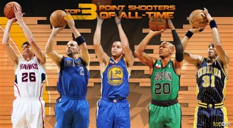 best shooter top 10 3 point shooters of all time