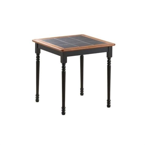 30 quot x 30 quot square wood dining table in black and cherry 70005