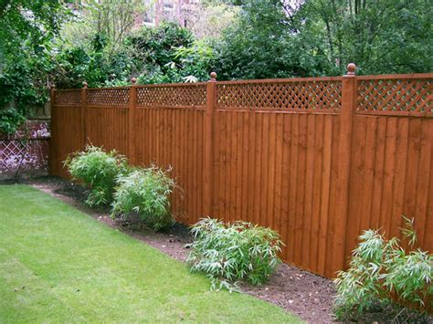 Wood Fence With Trellis Fence Panel Trellis Fences