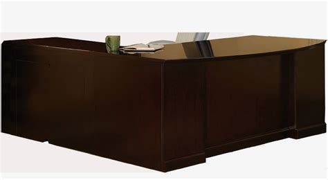 bow front desk with return sorrento desk series bow front double pedestal desk