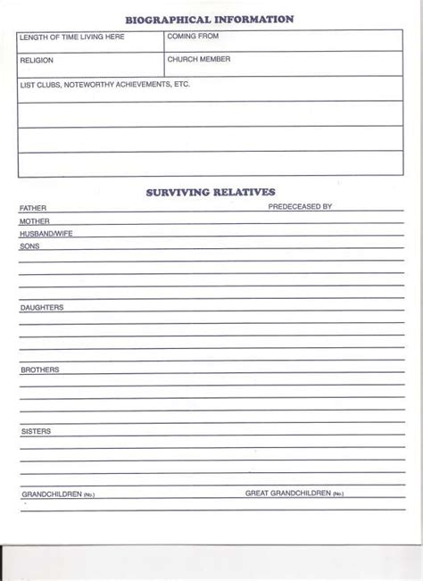 funeral checklist template best resumes