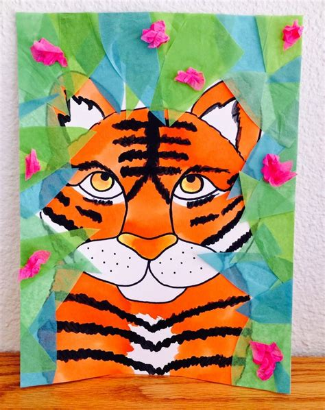 kids designs etc ed s art kathy s angelnik designs art project ideas tiger in the