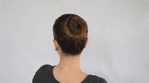Simple Bun Hairstyles by How To Make A Simple Bun In Hair 9 Steps With Pictures